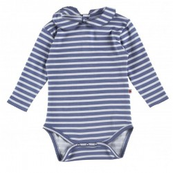 Body 6-12 mois manches longues en coton bio Piccalilly