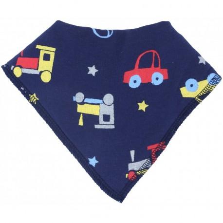 Bavoir bandana en coton bio Piccalilly voitures