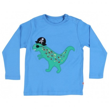 T-shirt manches longues dinosaure pirate Piccalilly
