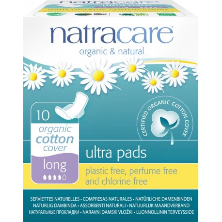 Serviettes long ultra avec ailettes Natracare