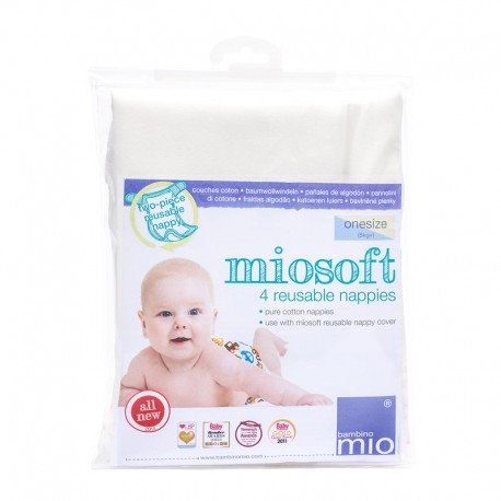 Pack de 4 langes lavables Miosoft