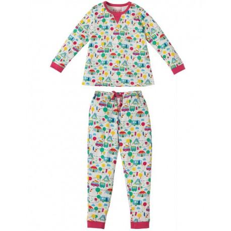 Pyjama 2-pièces en coton biologique Frugi motif Festival
