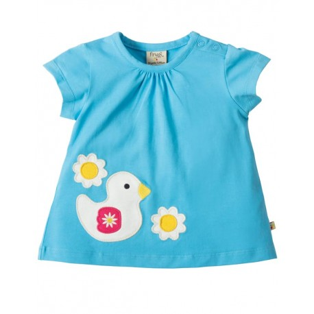 T-shirt manches longues en coton biologique Frugi motif Canard