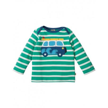 T-shirt manches longues en coton biologique Frugi motif Van