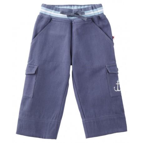 Pantalon bleu ceinture bord-côte Piccalilly