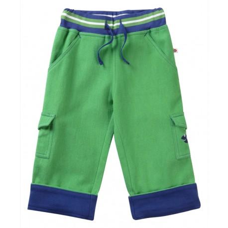 Pantalon vert ceinture bord-côte Piccalilly