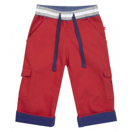 Pantalon rouge ceinture bord-côte Piccalilly