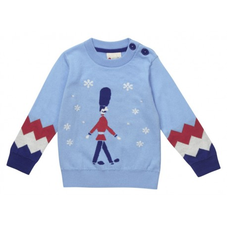 Pull 1-2 ans garde londonien en coton bio Piccalilly