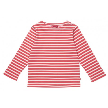 T-shirt breton rayé rouge et blanc Piccalilly