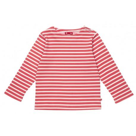 T-shirt breton rayé rouge et blanc Piccalilly