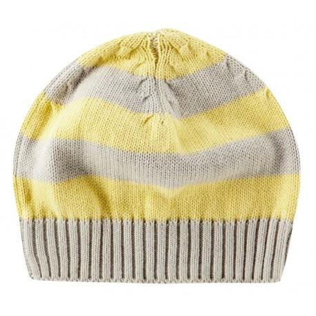 Bonnet tricoté en coton bio Piccalilly à rayures