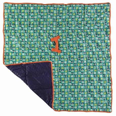 Close Pop-In Tapis de Jeu Motif Monstres Vert