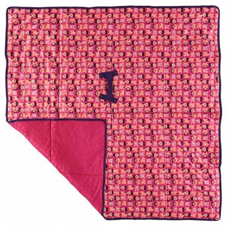Close Pop-In Tapis de Jeu Motif Monstres Rose