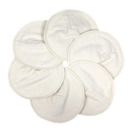 Coussinets d'Allaitement Coton Blanc 12cm IMSEVIMSE (3 p)