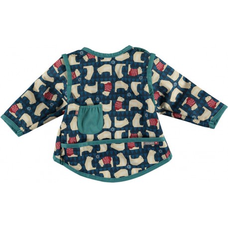 Bavoir Pop-In Coverall 6-18 m - Motif Ours Polaire