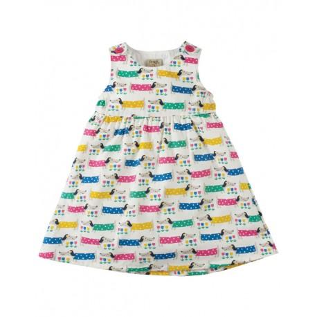 FRUGI robe bébé en coton biologique, motif chiens