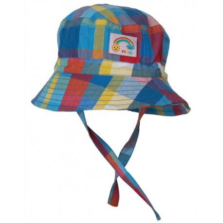FRUGI chapeau d'été en coton biologique à carreaux