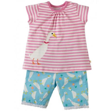 FRUGI pyjama d'été 18-24 mois en coton biologique, motif oie