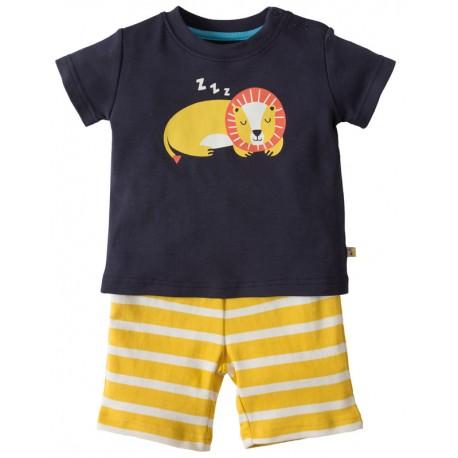FRUGI pyjama d'été en coton biologique, motif lion