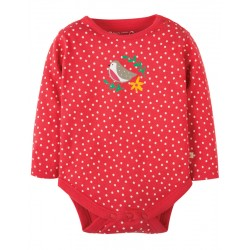 FRUGI body taille Naissance manches longues motif rouge-gorge
