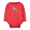 FRUGI body manches longues motif rouge-gorge
