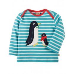 FRUGI T-shirt manches longues motif pingouin