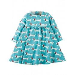 FRUGI robe manches longues motif chiens
