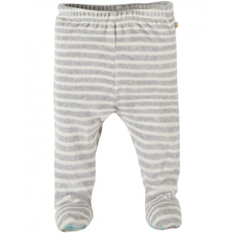 FRUGI pantalon avec pieds gris / blanc rayé