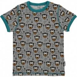 MAXOMORRA T-shirt manches courtes motif Singe