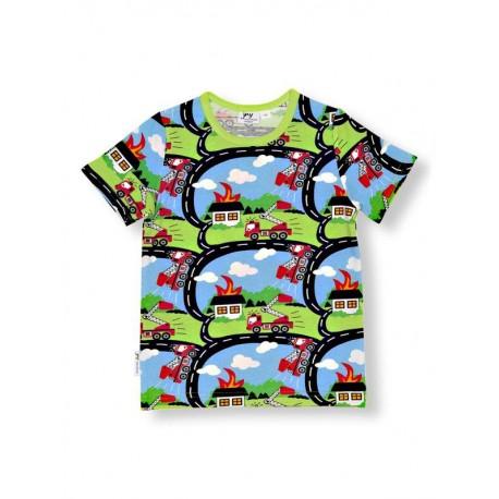 JNY T-shirt manches courtes motif camions de pompier