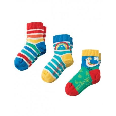 FRUGI chaussettes pack de 3 motif oiseau