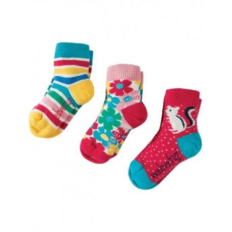 FRUGI chaussettes pack de 3 motif tamia