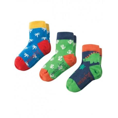 FRUGI chaussettes pack de 3 motif dinosaure