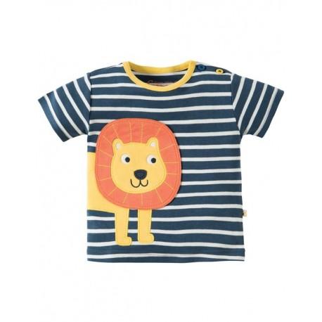 FRUGI T-shirt manches courtes appliqué lion