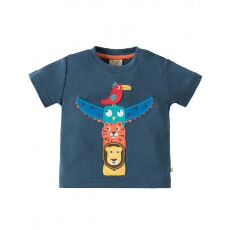 FRUGI T-shirt manches courtes applique totem