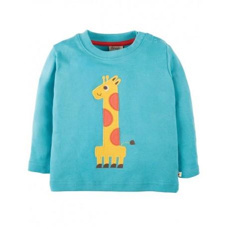 FRUGI haut manches longues anniversaire girafe