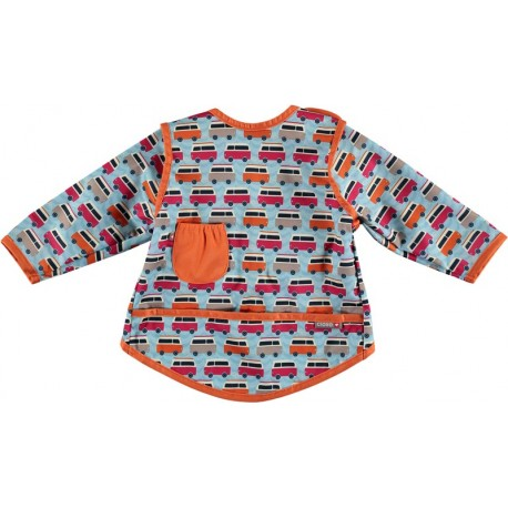 Bavoir Pop-In Coverall 18-36 m - Motif Caravane Bleu