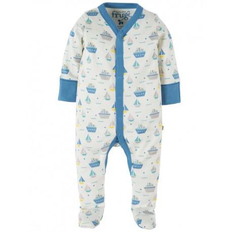 FRUGI pyjama 0-3 mois en coton biologique motif bateaux