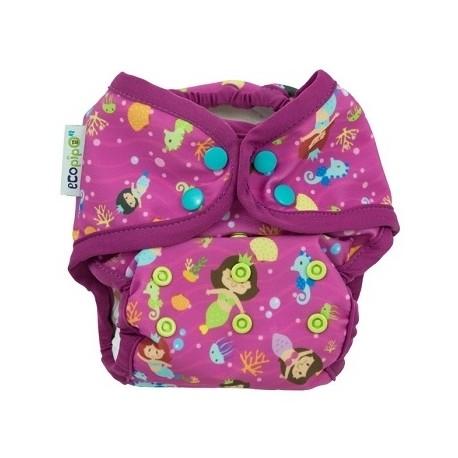 Couche maillot de bain pour plage / piscine Ecopipo - motif Sirène violet