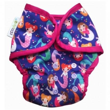 Couche maillot de bain pour plage / piscine Ecopipo - motif Sirène bleu