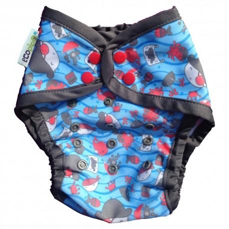 Couche maillot de bain pour plage / piscine Ecopipo - motif Pirate