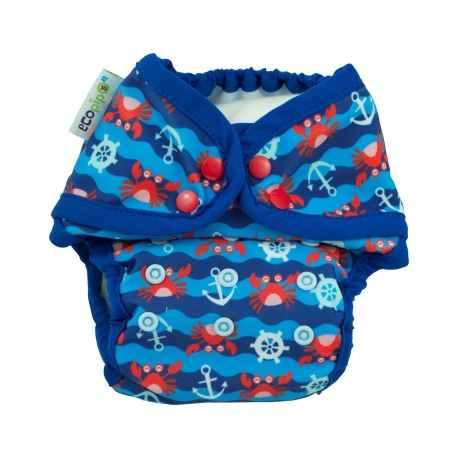 Couche maillot de bain pour plage / piscine Ecopipo - motif Crabe