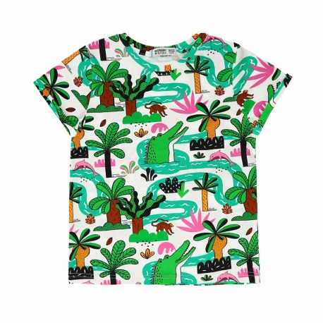 RASPBERRY REPUBLIC T-shirt manches courtes motif Amazonia