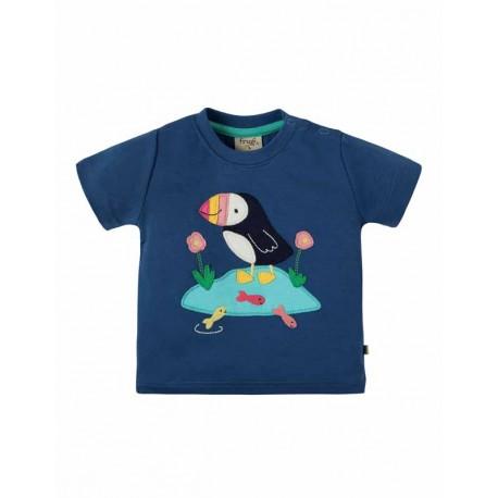 FRUGI T-shirt manches courtes en coton bio, motif macareux