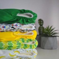 Pack de 5 couches lavables TE1 à poche Baba + Boo