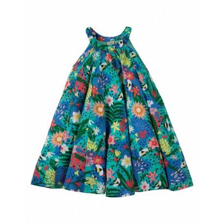 FRUGI robe trapèze en coton bio imprimé fleurs