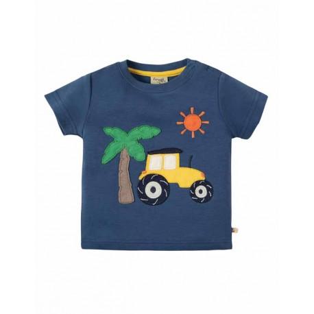 T-shirt en coton bio Frugi motif Tracteur