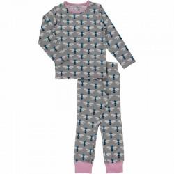 Pyjama en coton bio GOTS Maxomorra - motif libellule