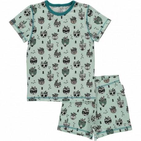 Pyjama d'été en coton bio GOTS Maxomorra - motif animaux