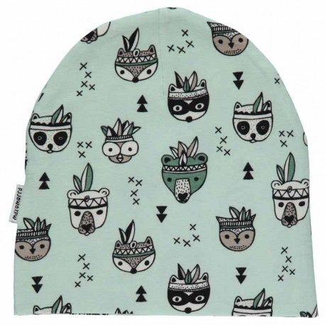 Bonnet en coton bio GOTS Maxomorra - motif animaux
